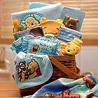 Winnie the Pooh Blue New Baby Basket