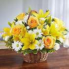 Peace, Prayers & Blessings Large Bouquet in Yellow and White