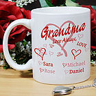 Love Always Hearts Personalized Coffee Mug
