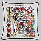 Hand Embroidered Dallas Accent Pillow