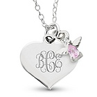 Girl's June Birthstone Angel Necklace