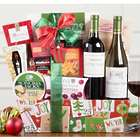 Red and White Wine Christmas Duet Gift Basket