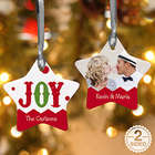 Personalized Two Sided Jolly Jester Star Photo Ornament