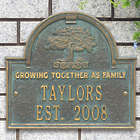 Personalized Family Tree Home Plaque