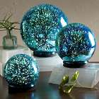 3D Lighted Mercury Glass Balls