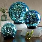 3D Lighted Mercury Glass Balls