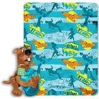 Scooby Mystery Fleece Blanket with Character Pillow