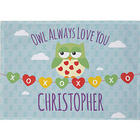 Personalized Owl Always Love You Kids Placemat