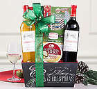 Red and White Wine Duet Christmas Gift Basket