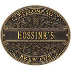 Personalized Brew Pub Welcome Plaque in Reclaimed Aluminum