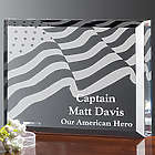 Personalized American Flag Hero Plaque