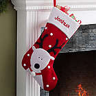Santa's Helpers Reindeer Embroidered Jumbo Stocking
