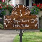 Personalized Our Rustic Wedding Garden Stake with Magnet