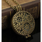 All Geared Up Steampunk Glowing Locket Necklace