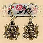 Military Seal Earrings