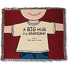 Personalized Big Hug Throw for Mom or Grandma
