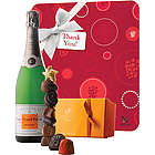 Veuve Clicquot Thank You with Demi-Sec and Godiva Chocolates