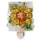 Recycled Glass Flower Night Light
