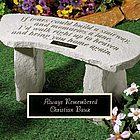 If Tears Garden Bench
