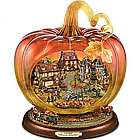 Reflections of a Harvest Season Glass Art Pumpkin