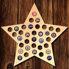 Super Star Bottle Cap Holder Bar Sign