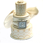 Ribbon Watch with Wedding Cake Display Stand