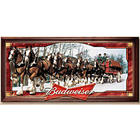 Budweiser Clydesdales Illuminating Stained-Glass Wall Art
