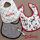Dr. Seuss Cat in the Hat Personalized Baby Bibs