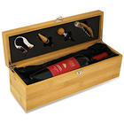 Personalized Bamboo Wine Box with Black Velour Lining