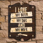 Personalized Stuff Guys Love Wooden Sign