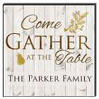Personalized Come Gather at the Table Wall Art Panel