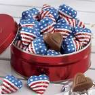 Mini Flag Wrapped Chocolate Hearts Gif Tin