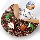 Christmas Decorated Giant Fortune Cookie