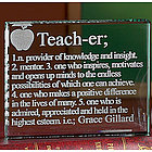 School Teacher Glass Block