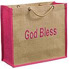 Eco Friendly Braided Handle Jute Bag