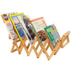 Bamboo Accordion Magazine Rack