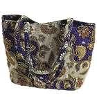 Purple Kembang Kapas Cotton Batik Beaded Shoulder Bag