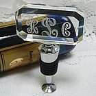 Monogrammed Crystal Bottle Stopper