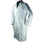 Illinois Fighting Illini White Terrycloth Logo Bathrobe