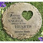 Personalized Angels Always In Our Hearts Memorial Garden Stone