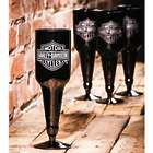 Harley Davidson Upside-Down Beer Bottle Glasses
