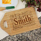 Personalized Family Sharing Word-Art Bamboo Cheese Carving Board