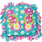 Fleece Flip Flop Tied Pillow Craft Kit