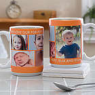 Large Picture Perfect 5 Photo Personalized Mug