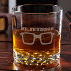 Too Cool for School Personalized Rocks Glass