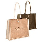 Personalized Large Jute Shopping Bag