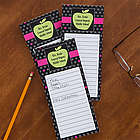 Green Apple Personalized Teacher's To Do List Notepads