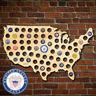 US Navy Beer Cap Map of America