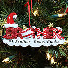 Personalized Brother Christmas Ornament