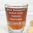 Personalized College Troubles Shot Glass